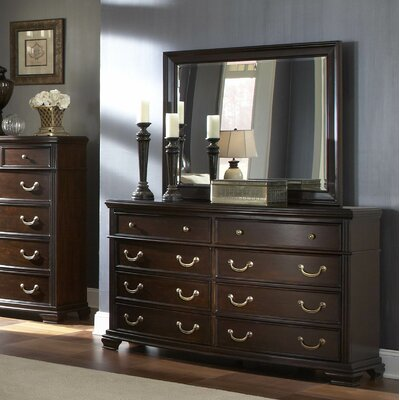 Wrentham 8 Drawer Dresser with Mirror by Woodhaven Hill