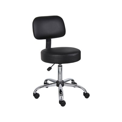 Mid-Back Leather Drafting Chair by Rosewill