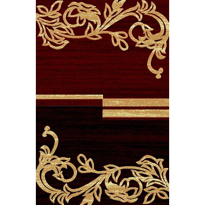 Lifestyle Burgandy Area Rug by Rug Factory Plus