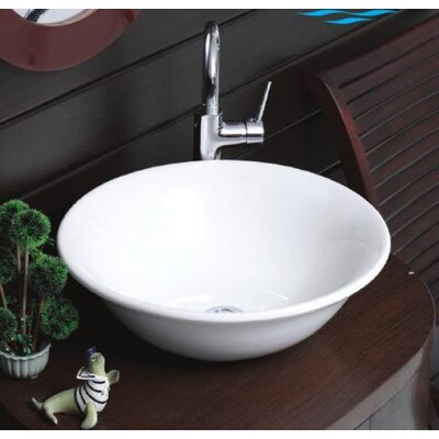 Lal C Round Ceramic Vessel Bathroom Sink Product Photo