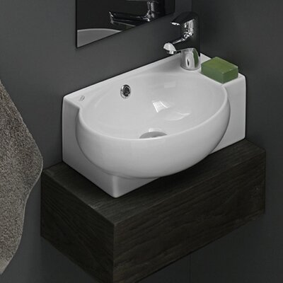 Mini Corner Ceramic Bathroom Sink Product Photo