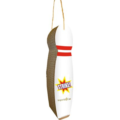 Imperial Cat Scratch n' Shapes Bowling Pin Hanging Recycled Paper Scratching Post