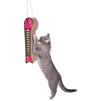 Imperial Cat Scratch 'n Shapes Hanging Fish on a Line Recycled Paper Scratching Board