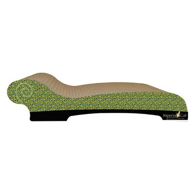 Imperial cat large chaise lounge recycles paper scratching for Cat chaise lounge