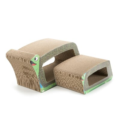 Imperial Cat Scratch 'n Shapes Turtle 2-in-1 Recycled Paper Scratching Board