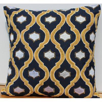 Velvet Accent Cotton Throw Pillow by Auburn Textile