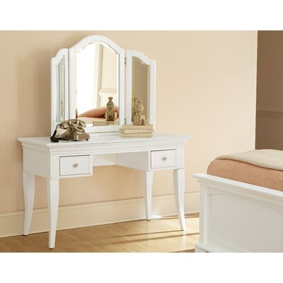 NE Kids Walnut Street Vanity Set with Mirror 8545 9545