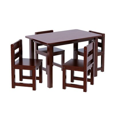 Kids 5 Piece Rectangle Table Chair Set by Maxtrix Kids