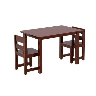Kids 3 Piece Rectangle Table and Chair Set by Maxtrix Kids