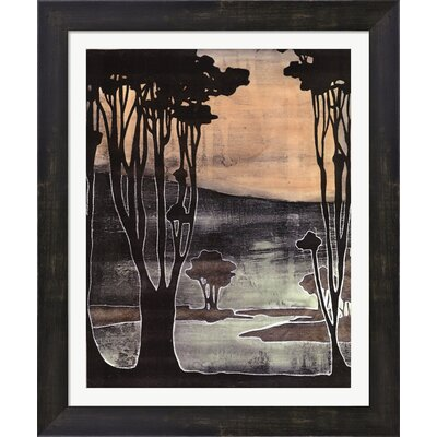 Small Nouveau Trees II by Jennifer Goldberger Framed Painting Print by Evive Designs