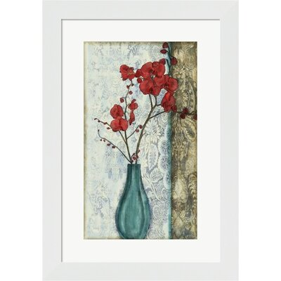 Small Orchid Opulence I (P) Framed Art by Evive Designs