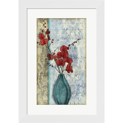 Small Orchid Opulence II (P) by Jennifer Goldberger Framed Graphic Art by Evive Designs
