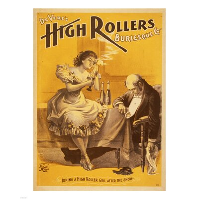 Dining a High Roller Girl after the Show Vintage Advertisement by Evive Designs