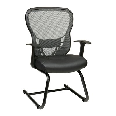 Deluxe Back Eco Leather Conference Chair with Fixed Arms by OSP Designs