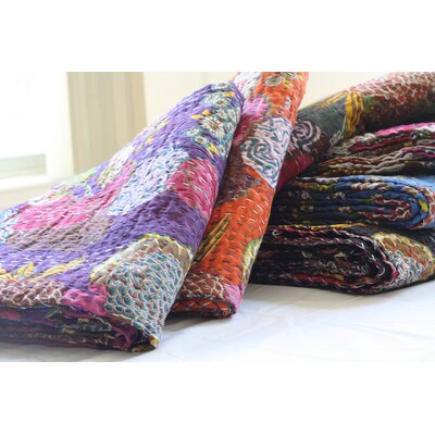 Timbergirl Handmade Kantha Cotton Throw