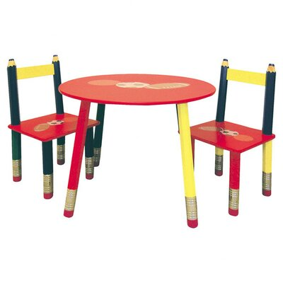 ORE Furniture Kids 3 Piece Table and Chair Set