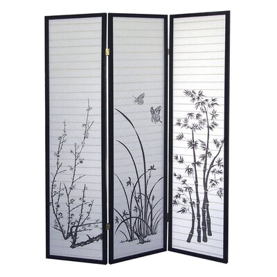 "ORE Furniture 70"" x 51"" Scenery 3 Panel Room Divider"