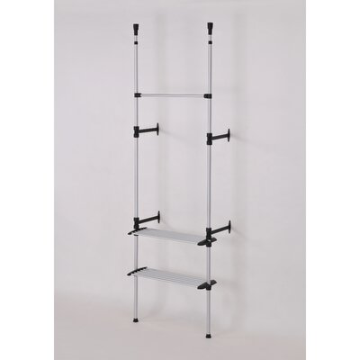 Telescopic 2 Tier Clothes Rack Product Photo