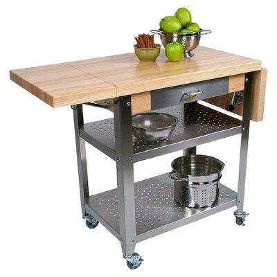 John boos cucina americana kitchen cart with wood top reviews wayfair - Cucina americana ...