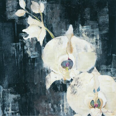Art Effects Shadow Orchids I by Liz Jardine Painting Print on Wrapped Canvas