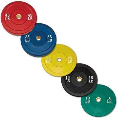 Body Solid 260 lbs Olympic Rubber Bumper Plate Set in Colored