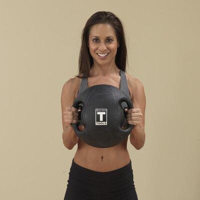 Body Solid 18 lbs Dual Grip Medicine Balls in Black