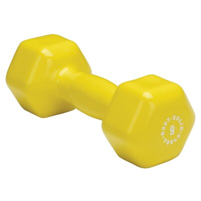 Vinyl Dumbbell in Yellow by Body Solid