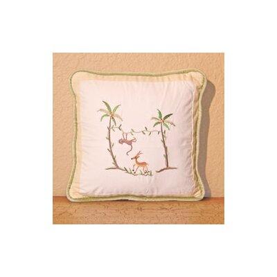 African Plains Monkey Decorator Throw Pillow by Brandee Danielle