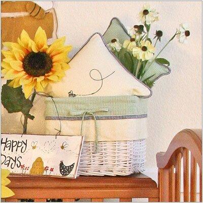 Bee My Baby Wicker Basket by Brandee Danielle