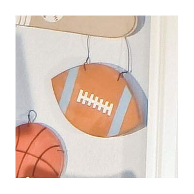 All Star Football Hanging Art by Brandee Danielle