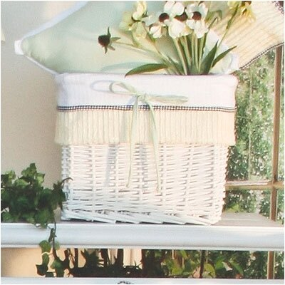 Flutter Bees Wicker Basket by Brandee Danielle