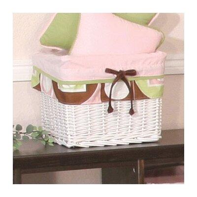 Modern Baby Girl Caffe Wicker Basket by Brandee Danielle