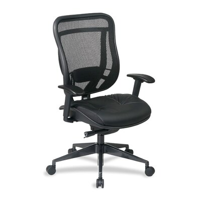 Mesh Leather Conference Chair by OSP Furniture