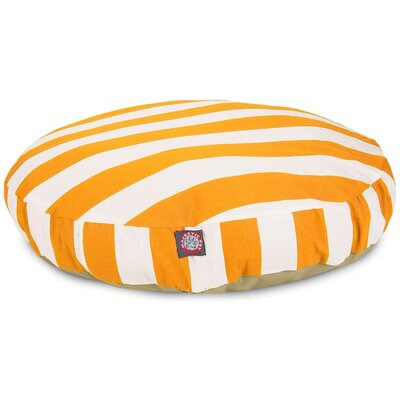 Vertical Stripe Round Pet Bed by Majestic Pet