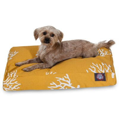 Coral Rectangular Pet Bed by Majestic Pet
