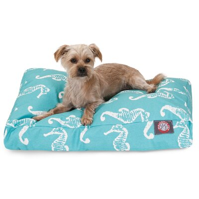 Sea Horse Rectangle Pet Bed by Majestic Pet