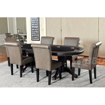 BBO Poker Rockwell 8 Piece Poker Dining Table Set with Lounge Chairs