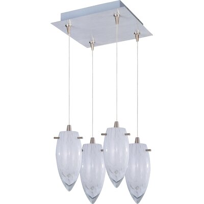 ET2 White Cirrus 4-Light RapidJack Pendant and Canopy