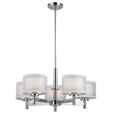 Recesso Double Organza 5 Light Chandelier Product Photo