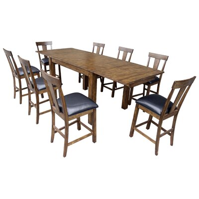 A america mariposa counter height extendable dining table for Counter height extendable dining table