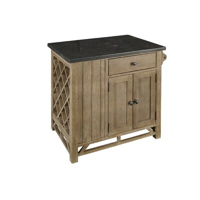 West Valley Kitchen Island with Bluestone Top Product Photo