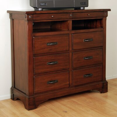 Kalispell 6 Drawer Media Chest by A-America