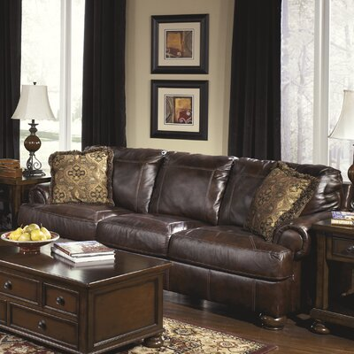 Heath Leather Sofa by Signature Design by Ashley