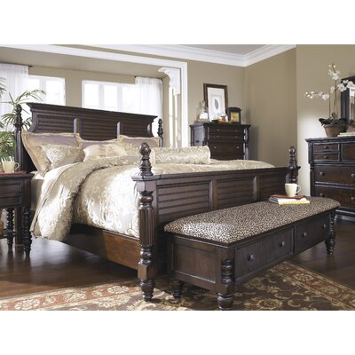 Signature design by ashley key town wood storage bedroom bench reviews wayfair - Key town bedroom set ...