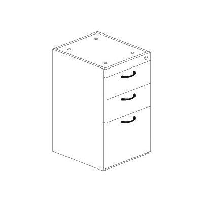 Mayline Group Corsica Series 3-Drawer Pedestal File