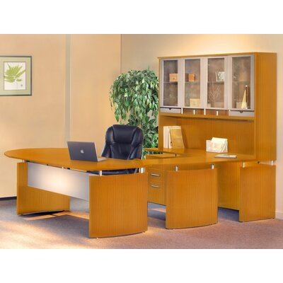 Mayline Group Napoli Series U-Shape Executive Desk with Hutch