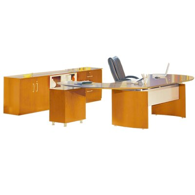 Mayline Group Napoli Series 3-Piece Standard Desk Office Suite