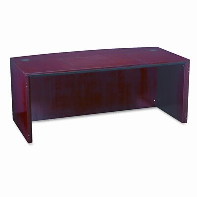 Mayline Group Corsica Series Bow Front Desk Shell Top