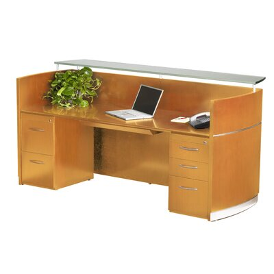 Mayline Group Napoli Series Rectangular Reception Desk
