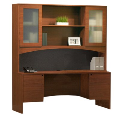 Mayline Group Brighton Series Computer Desk with Hutch